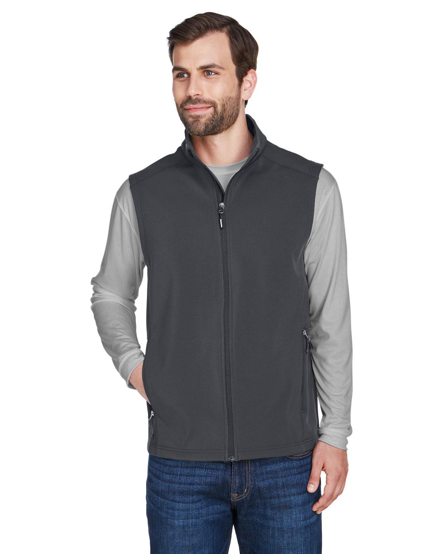 Core 365 Men's Cruise Two-Layer Fleece Bonded Soft Shell Vest CARBON