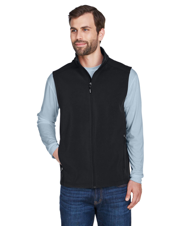 Core 365 Men's Cruise Two-Layer Fleece Bonded Soft Shell Vest BLACK