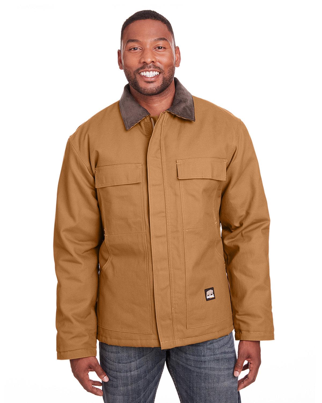 Berne Men's Tall Heritage Cotton Duck Chore Jacket BROWN DUCK