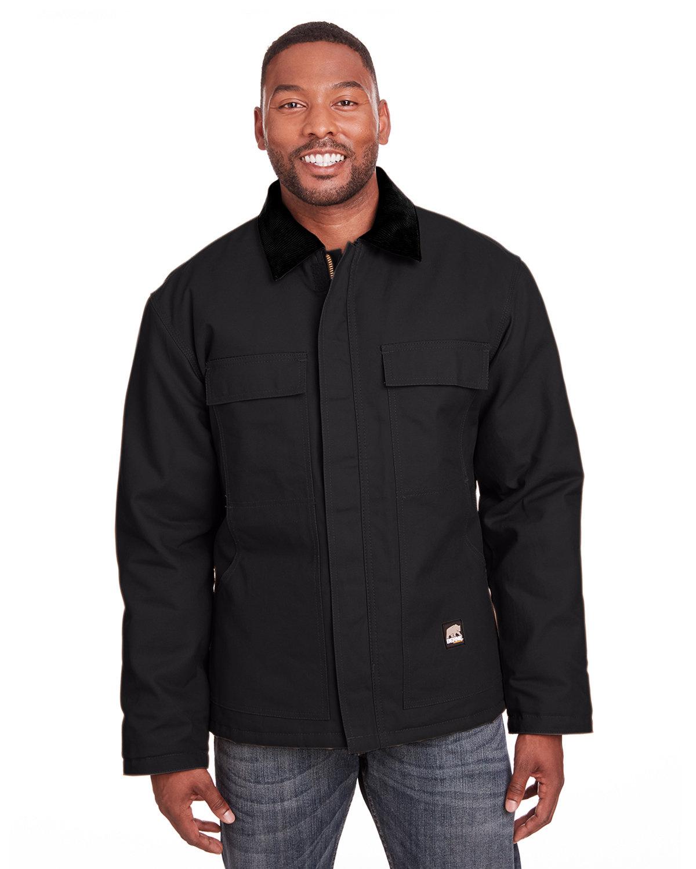 Berne Men's Tall Heritage Cotton Duck Chore Jacket BLACK