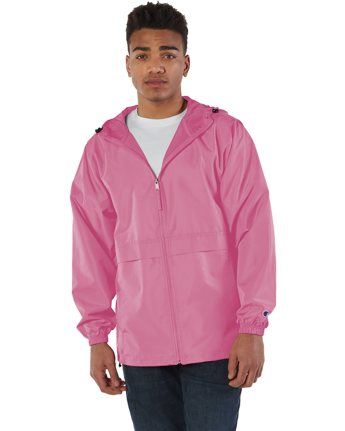 Champion Adult Full-Zip Anorak Jacket PINK CANDY