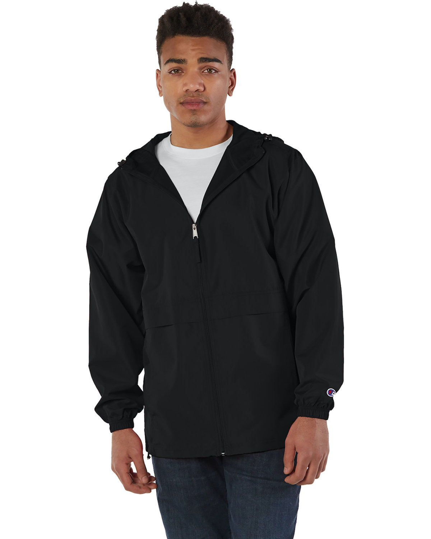 Champion Adult Full-Zip Anorak Jacket BLACK