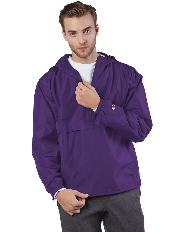 Champion Adult Packable Anorak 1/4 Zip Jacket RAVENS PURPLE