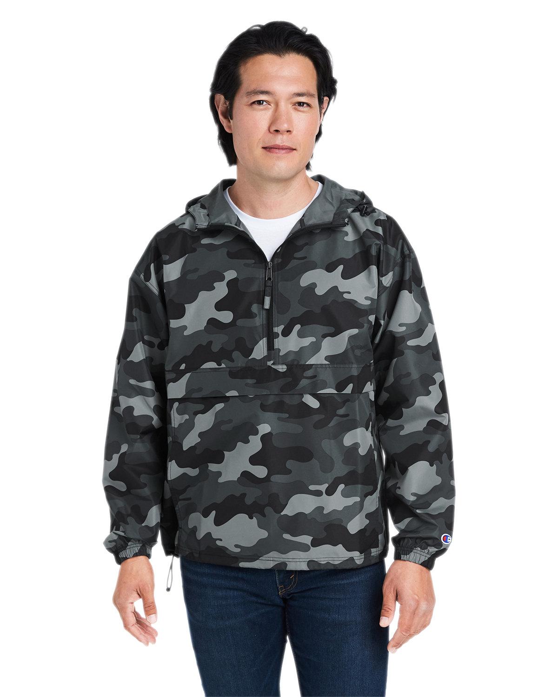 Champion Adult Packable Anorak 1/4 Zip Jacket CONCRETE CAMO