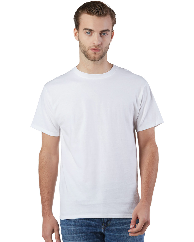 Champion Adult Ringspun Cotton T-Shirt WHITE