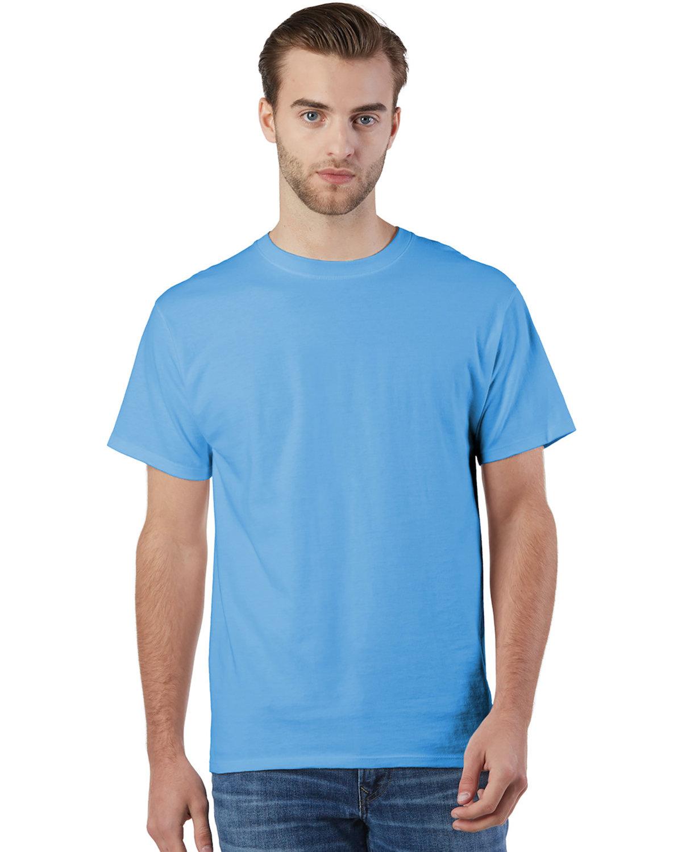 Champion Adult Ringspun Cotton T-Shirt LIGHT BLUE