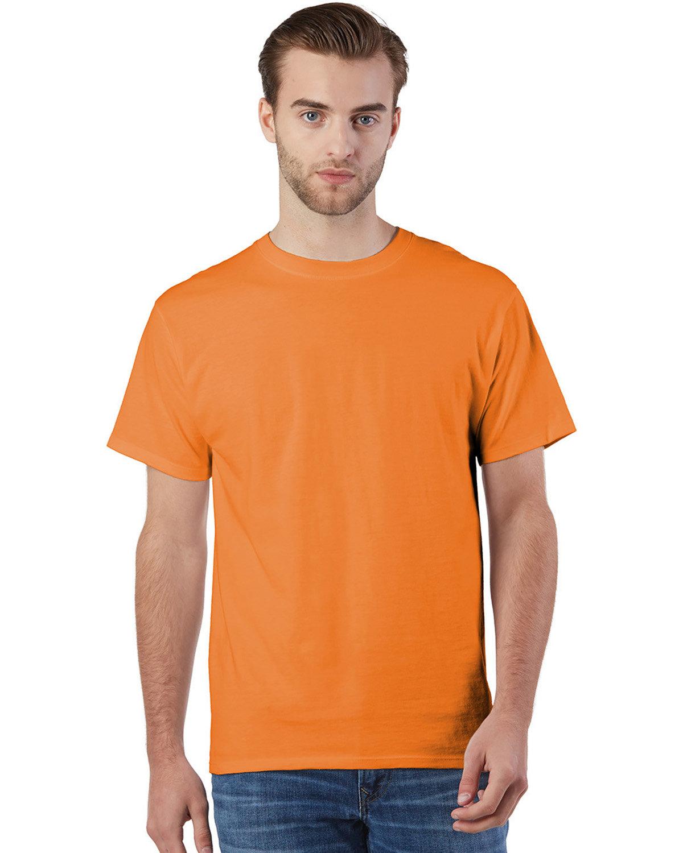 Champion Adult Ringspun Cotton T-Shirt ORANGE
