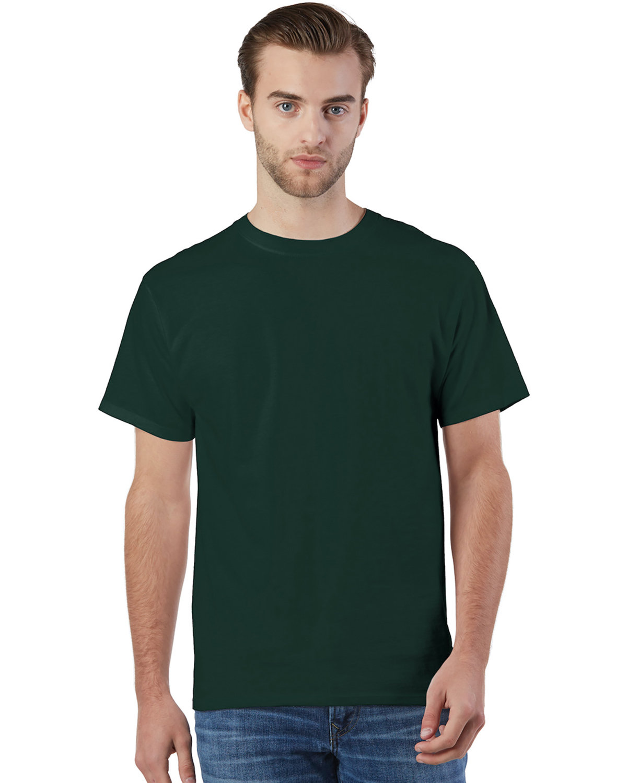 Champion Adult Ringspun Cotton T-Shirt DARK GREEN