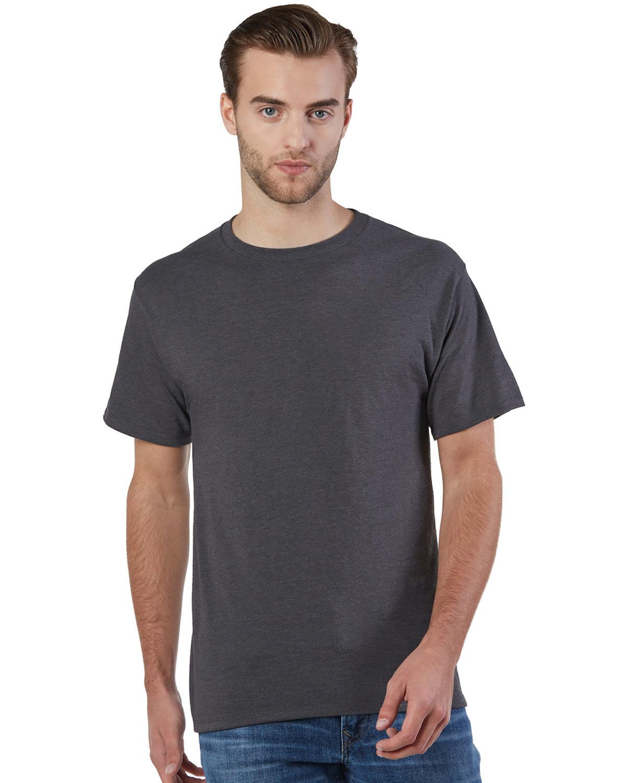 Champion Adult Ringspun Cotton T-Shirt CHARCOAL HEATHER