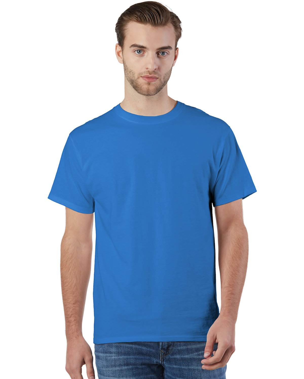 Champion Adult Ringspun Cotton T-Shirt ROYAL