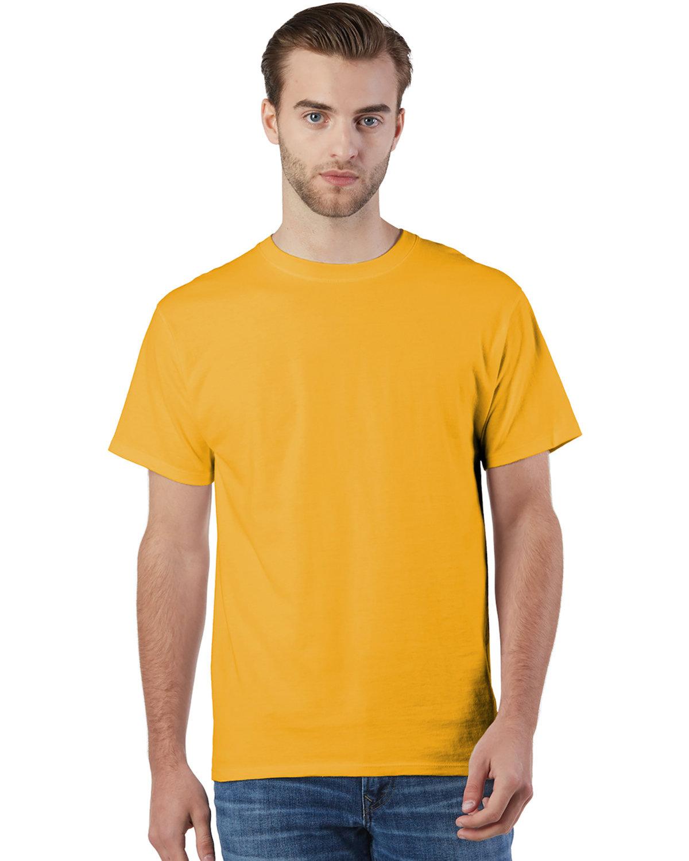 Champion Adult Ringspun Cotton T-Shirt C GOLD