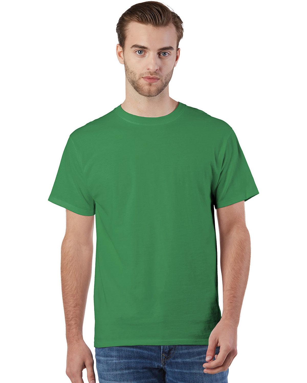 Champion Adult Ringspun Cotton T-Shirt KELLY GREEN