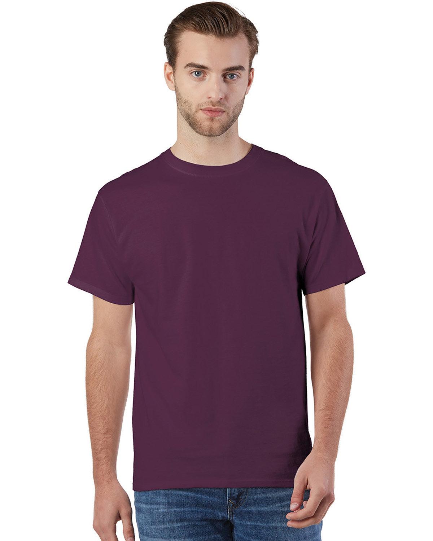 Champion Adult Ringspun Cotton T-Shirt MAROON