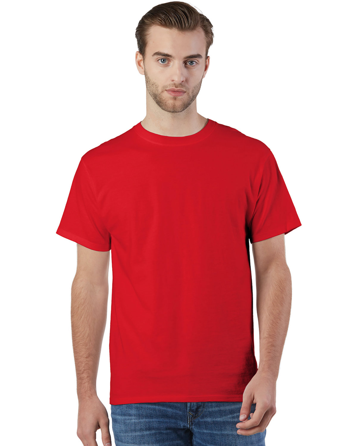 Champion Adult Ringspun Cotton T-Shirt ATHLETIC RED