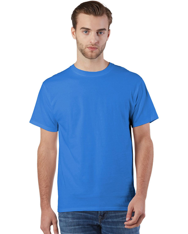 Champion Adult Ringspun Cotton T-Shirt BLUEBELL BREEZE