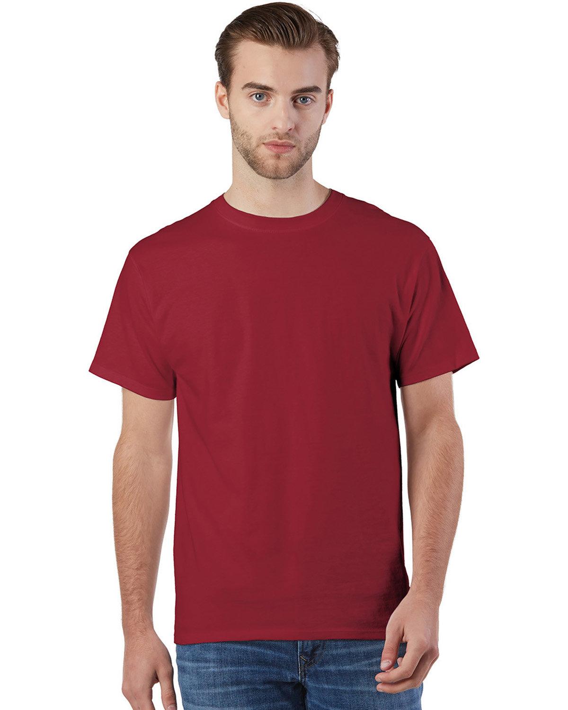 Champion Adult Ringspun Cotton T-Shirt TRUE CARDINAL
