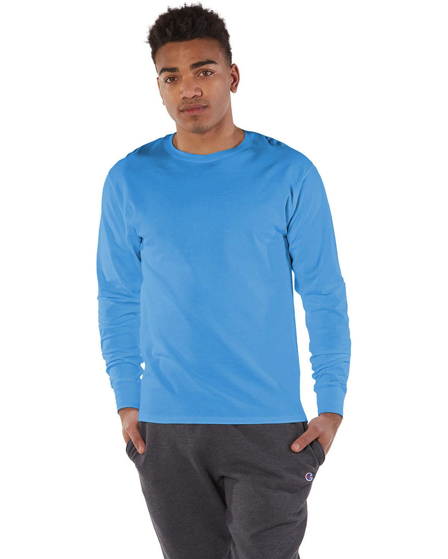 Champion Adult Long-Sleeve Ringspun T-Shirt LIGHT BLUE
