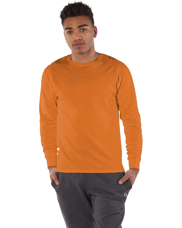 Champion Adult Long-Sleeve Ringspun T-Shirt ORANGE