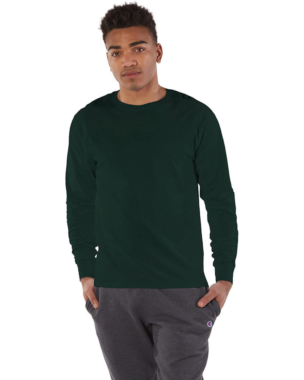 Champion Adult Long-Sleeve Ringspun T-Shirt DARK GREEN