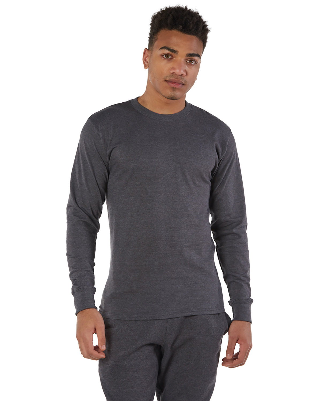 Champion Adult Long-Sleeve Ringspun T-Shirt CHARCOAL HEATHER