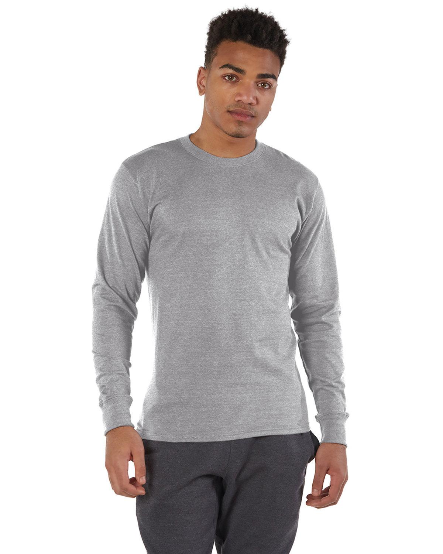 Champion Adult Long-Sleeve Ringspun T-Shirt OXFORD GRAY