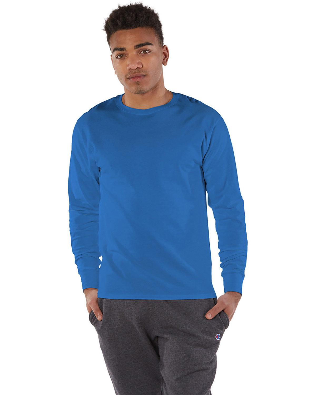 Champion Adult Long-Sleeve Ringspun T-Shirt ROYAL