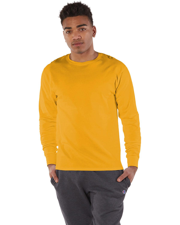Champion Adult Long-Sleeve Ringspun T-Shirt C GOLD