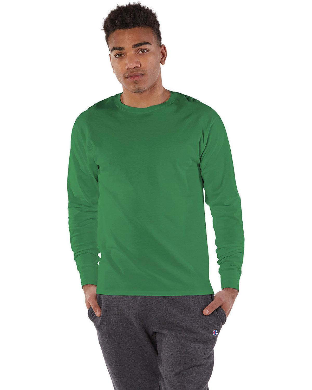 Champion Adult Long-Sleeve Ringspun T-Shirt KELLY GREEN