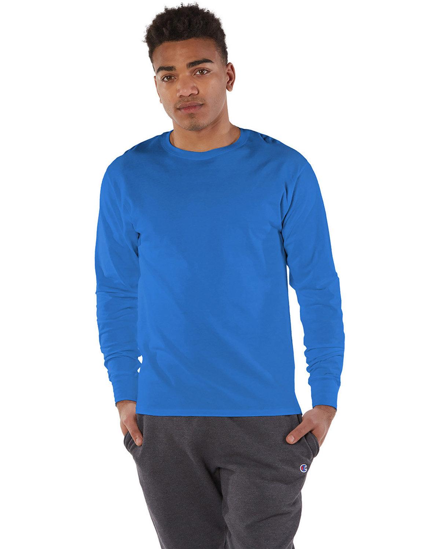 Champion Adult Long-Sleeve Ringspun T-Shirt BLUEBELL BREEZE