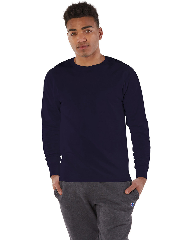 Champion Adult Long-Sleeve Ringspun T-Shirt RAVENS PURPLE