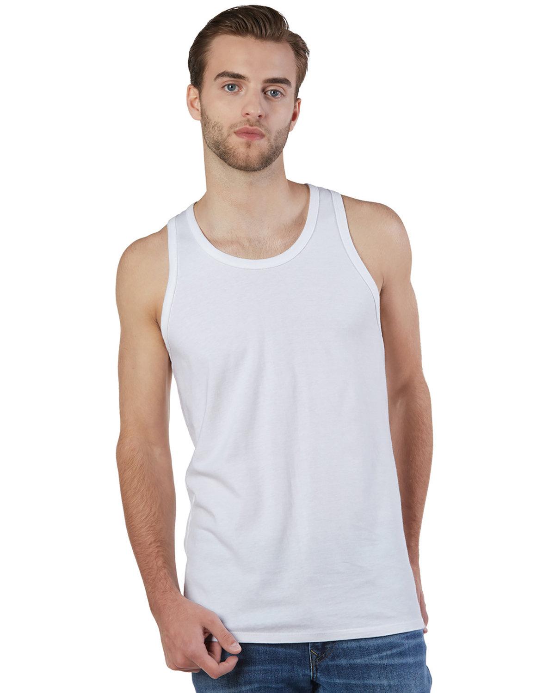 Champion Men's  Ringspun Cotton Tank Top WHITE