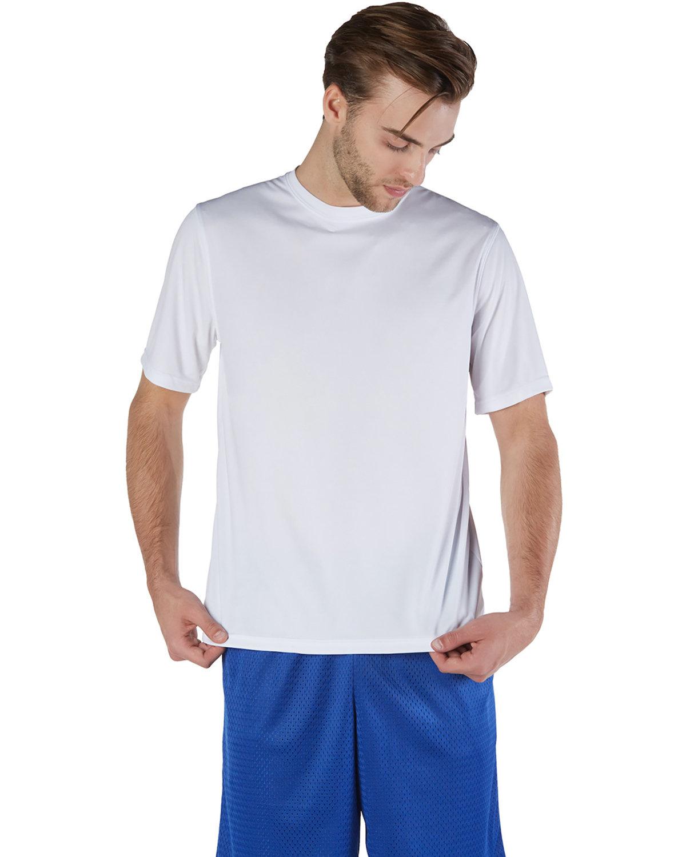 Champion Adult 4.1 oz. Double Dry® Interlock T-Shirt WHITE