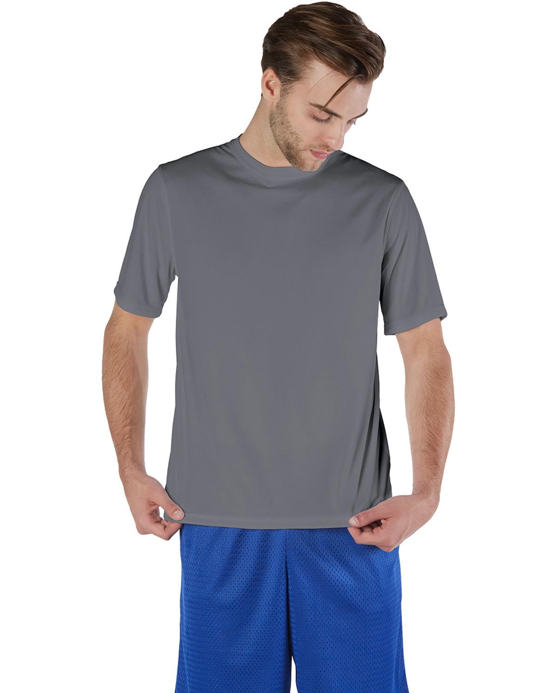 Champion Adult 4.1 oz. Double Dry® Interlock T-Shirt STONE GRAY