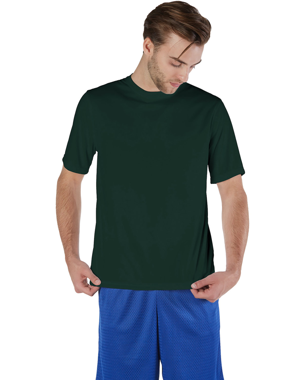 Champion Adult 4.1 oz. Double Dry® Interlock T-Shirt DARK GREEN