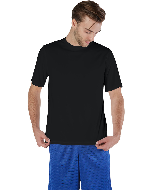Champion Adult 4.1 oz. Double Dry® Interlock T-Shirt BLACK