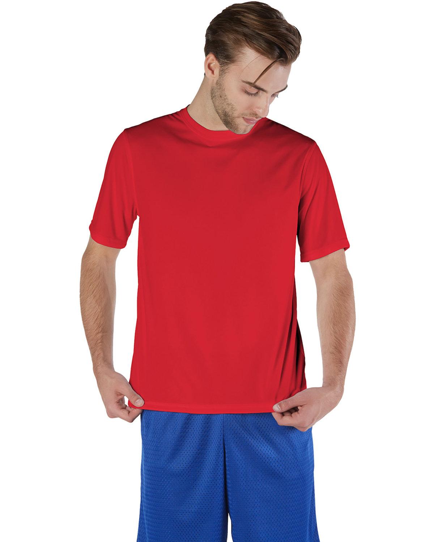 Champion Adult 4.1 oz. Double Dry® Interlock T-Shirt SCARLET