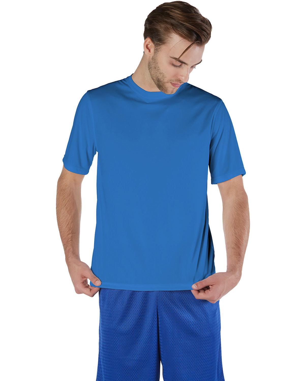 Champion Adult 4.1 oz. Double Dry® Interlock T-Shirt ROYAL BLUE