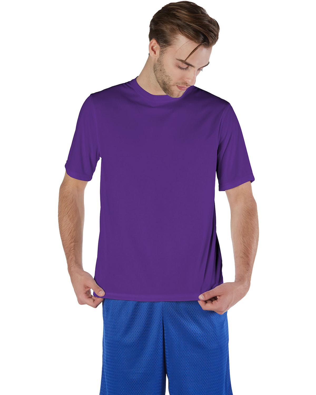 Champion Adult 4.1 oz. Double Dry® Interlock T-Shirt PURPLE