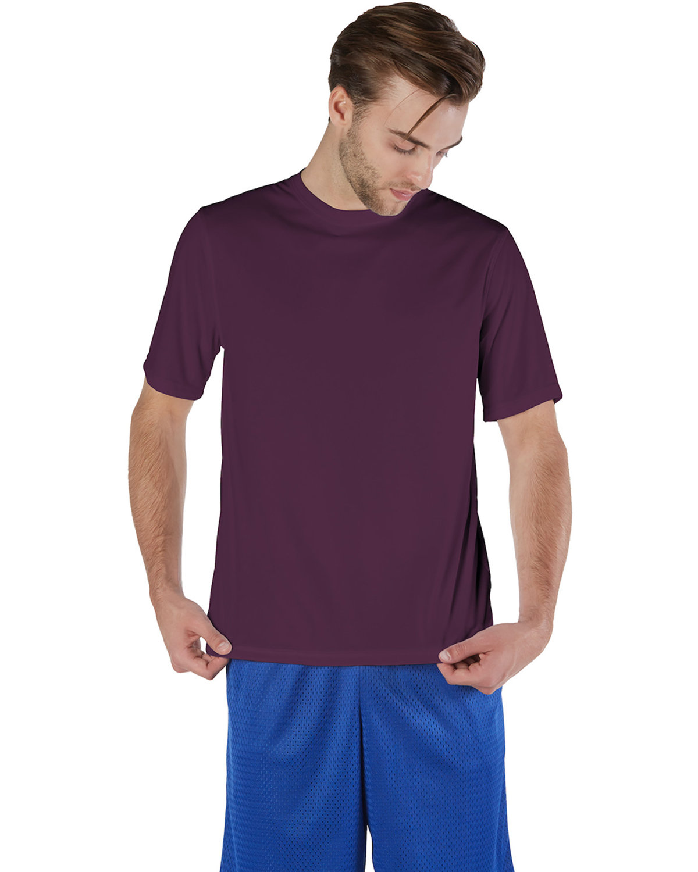 Champion Adult 4.1 oz. Double Dry® Interlock T-Shirt MAROON