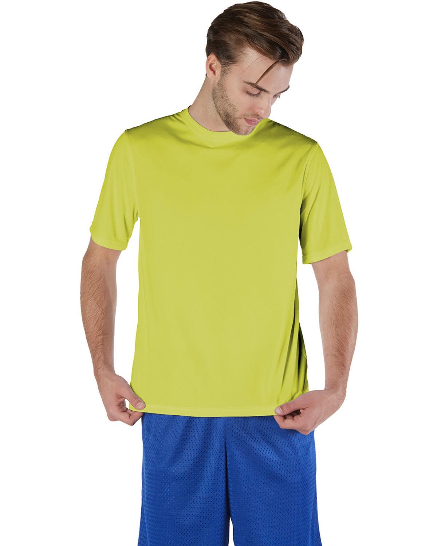 Champion Adult 4.1 oz. Double Dry® Interlock T-Shirt SAFETY GREEN