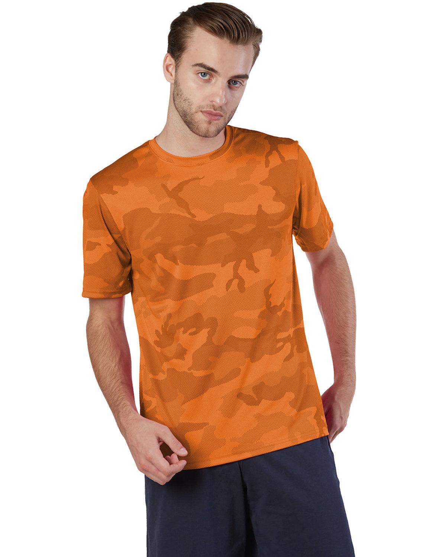 Champion Adult 4.1 oz. Double Dry® Interlock T-Shirt SFTY ORANGE CAMO