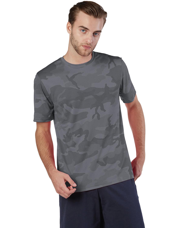 Champion Adult 4.1 oz. Double Dry® Interlock T-Shirt STONE GRAY CAMO