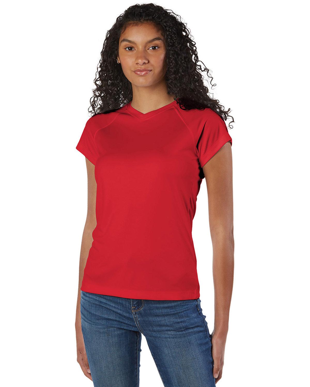 Champion Ladies' 4.1 oz. Double Dry® V-Neck T-Shirt SCARLET