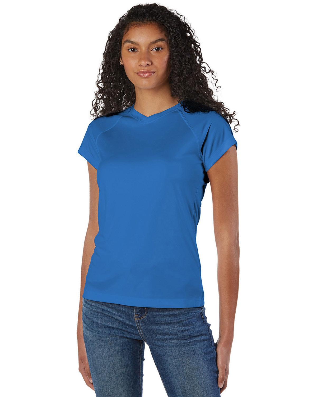 Champion Ladies' 4.1 oz. Double Dry® V-Neck T-Shirt ROYAL BLUE