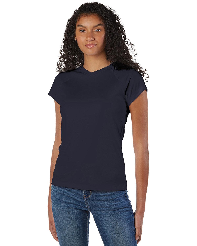 Champion Ladies' 4.1 oz. Double Dry® V-Neck T-Shirt NAVY