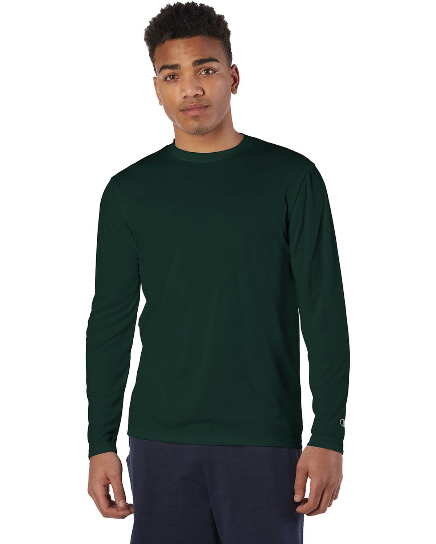 Champion Adult 4.1 oz. Double Dry® Long-Sleeve Interlock T-Shirt DARK GREEN