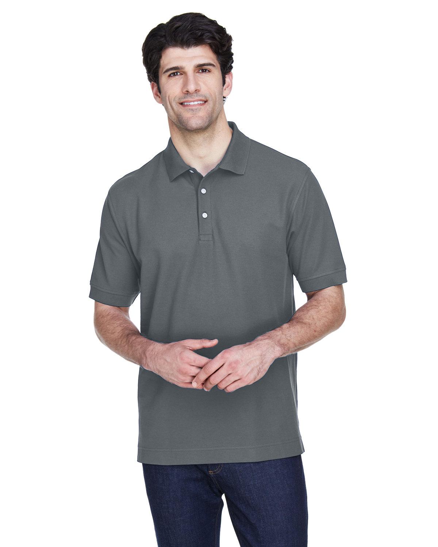 Devon & Jones Men's Pima Piqué Short-Sleeve Polo GRAPHITE
