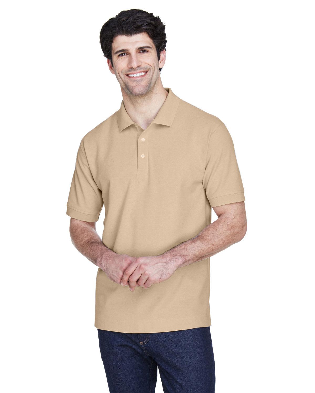 Devon & Jones Men's Pima Piqué Short-Sleeve Polo STONE