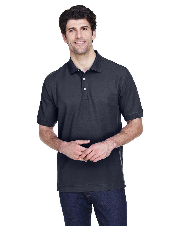 Devon & Jones Men's Pima Piqué Short-Sleeve Polo NAVY