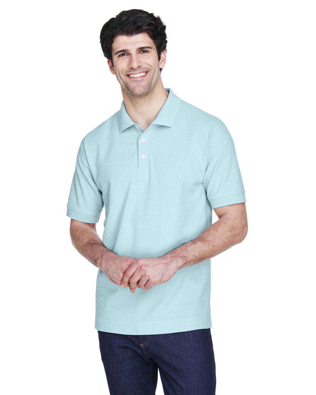 Devon & Jones Men's Pima Piqué Short-Sleeve Polo CRYSTAL BLUE